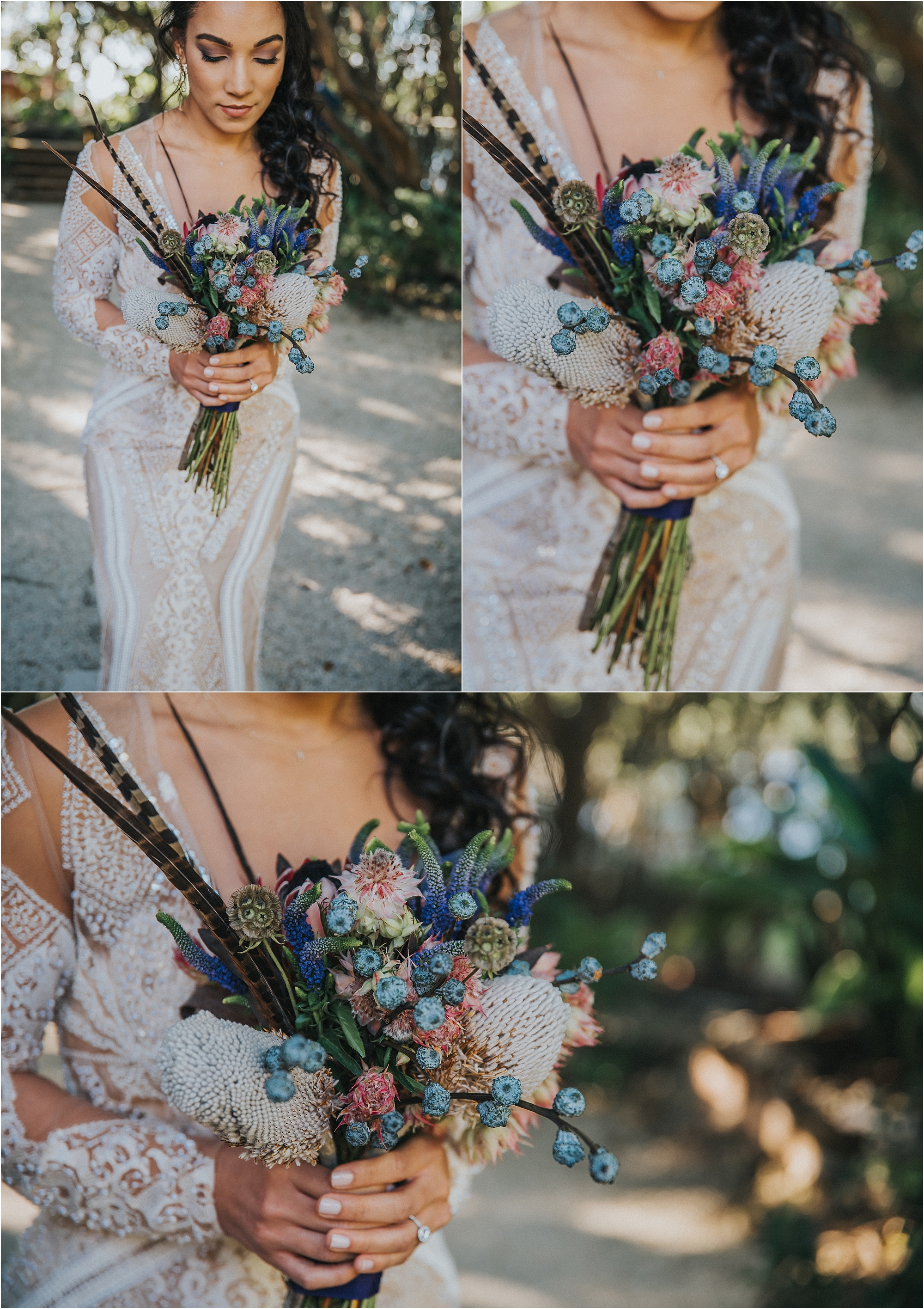 bohemian miami wedding